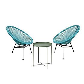 Bàn ghế thư giãn ngoài trời Tray và 2 ghế Acapulco cao cấp hcm