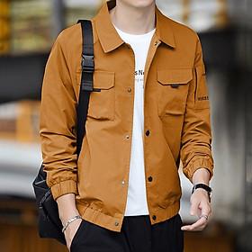 Áo khoác kaki túi hộp Hahaman nam cao cấp 3 màu AKK36