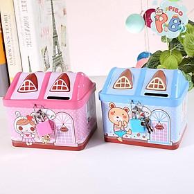 Két Sắt Mini Tiết Kiệm Tiền Hình Ngôi Nhà Có Khóa Siêu Ngộ Nghĩnh Cho Bé– Pibo Store