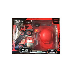 Đồ chơi Bộ đồ chơi lắp ráp Vecto DIY - Hai xe cứu hỏa kèm theo nón VECTO VT1066
