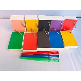 FLASHCARD TRẮNG 10 BỘ như hình tặng khoen bìa màu học tiếng Anh, Nhật, Hàn, Trung, Đức, Pháp. flashcard trắng góc vuông dày dặn tặng kèm khoen và bìa note siêu đẹp Flashcard trắng siêu dày đẹp như hình