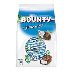 Kẹo Socola dừa Bounty Miniatures gói 150gr