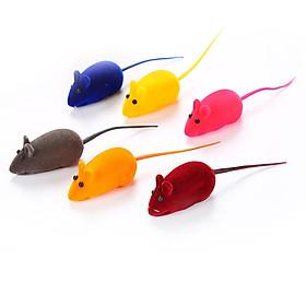 Chuột Silicon Đồ Chơi Chó Mèo Flocking Mouse Chất Lượng Cao Màu Ngẫu Nhiên