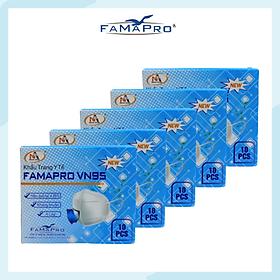 [[ Xuất Khẩu Mỹ ]] - COMBO 5 TÚI / HỘP - Khẩu Trang Y Tế Cao Cấp FAMAPRO - 4 Lớp Kháng Khuẩn / 95% Lọc Khuẩn, Bụi, Virus Tốt Nhất / Người Lớn - [ CB5 - VN95 - TÚI / HỘP ]