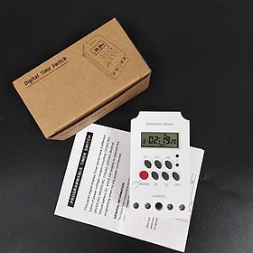 Công tắc hẹn giờ KG316 T-II công suất 25A/220V có khóa phím, bộ hẹn giờ tự động - Được lập trình bật tắt tự động tiết kiệm thời gian cho người dùng