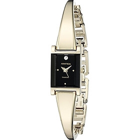 Armitron Women's 75/5322 Diamond-Accented Bangle Watch
