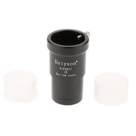 "1.25"" 3X Magnification Barlow Lens Metal Design for Telescope Eyepiece Black"