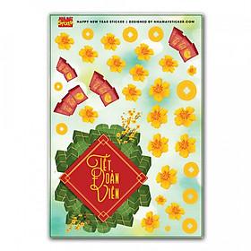 Sticker decal hình dán trang trí tết - Đoàn Viên