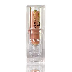 Son dưỡng Saffron không màu trị thâm môi, phục hồi môi, làm đầy rãnh môi  Saffron Lip Balm 4g