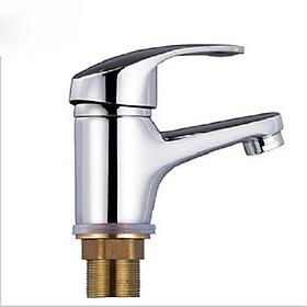 Vòi chậu rửa mặt lavabo nóng lạnh thân lùn - tặng kèm bộ dây cấp nước nóng lạnh.