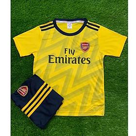 Bộ Đồ Đá Banh Trẻ Em- CLB Arsenal Vàng Sân Khách