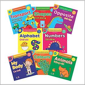 Trọn bộ Thư viện hình ảnh đầu tiên cho bé ( Song Ngữ ) - Hộp 8 cuốn