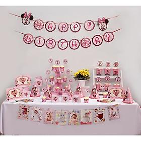 Bộ Phụ Kiện Sinh Nhật trọn gói chủ đề Minnie