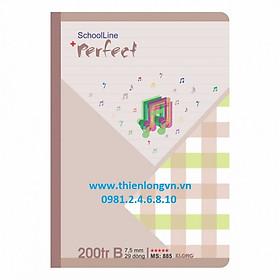 Vở kẻ ngang Perfect - 200 trang; Klong 885 bìa nâu