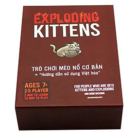 Combo Bài Mèo Nổ Exploding Kittens + Bọc Bài (100 Bọc)