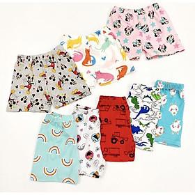 Set 10 quần đùi cotton xuất dư mềm mát cho bé trai ,bé gái
