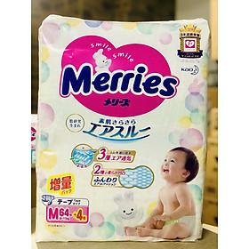 Bỉm dán Merries size M 68 (64+4 miếng) nội địa Nhật