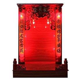 Tủ Thần Tài Gỗ Hộp Đèn 4 Tấc PT0034