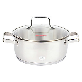 Nồi Inox 3 Đáy Nắp Kiếng Happy Cook Milan 16cm N16-MLG