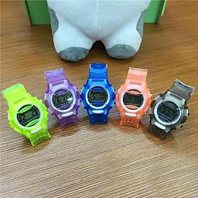 Đồng hồ thời trang trẻ em led SHOCK RESIST lte3,dây silicon mặt tròn,hiển thị giờ và ngày tháng tiện dụng.phù hợp cho trẻ.
