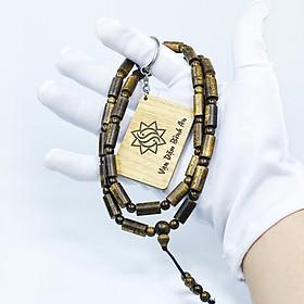 [TẶNG 1 MÓC KHÓA SƠN MỘC HƯƠNG] Vòng đeo cổ trầm hương phong thủy trụ trúc 9 trụ 9 tròn nam nữ Sơn Mộc Hương từ trầm tốc tự nhiên giúp mang lại may mắn, bình an và tài lộc cho người đeo