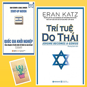 Combo Trí Tuệ Do Thái và Quốc Gia Khởi Nghiệp ( Tặng Kèm Sổ Tay Xương Rồng)