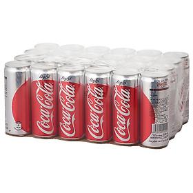 Lốc 24 Lon Nước giải khát không đường Coca-Cola Light lon (330ml x24)