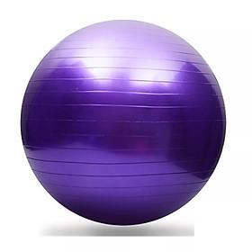 Bóng tập Yoga 75cm + Tặng kèm dụng cụ bơm bóng Yoga (Màu ngẫu nhiên)