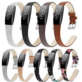 Bracelet Wrist Belt Inspire Pure Color Printing Leather Strap for Fitbit Inspire HR