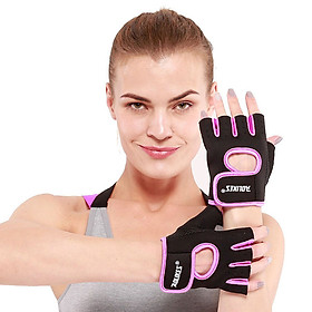 Bộ đôi găng tay nửa ngón tập gym, thể thao Aolikes AL1678 (1 đôi)