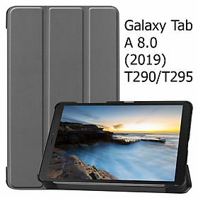 Bao Da Cover Cho Máy Tính Bảng Samsung Galaxy Tab A 8.0 (2019) T290 / T295 Hỗ Trợ Smart Cover
