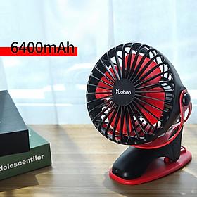 Yoobao Y-F04 USB Fan Rechargeable Handheld Mini Fan Clip Desktop 4-level Small Fans Electrical Fan 6400mAh