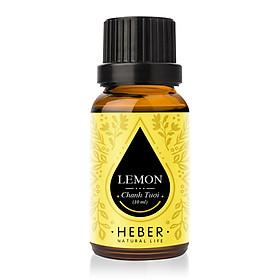 Tinh Dầu Chanh Tươi Lemon Essential Oil Heber | 100% Thiên Nhiên Nguyên Chất Cao Cấp | Nhập Khẩu Từ Ấn Độ | Kiểm Nghiệm Quatest 3 | Xông Thơm Phòng | Hương Dịu Nhẹ