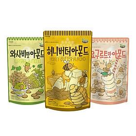 Combo 3 gói Hạnh nhân vị Mật ong x Wasabi x Yogurt Hàn Quốc Tomsfarm HoneyButter x Wasabi x Yogurt Almond 210g x 3ea