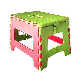 Ghế Nhựa Lùn Gấp Gọn Tiện Lợi, Màu Sắc Tươi Sáng, Thiết Kế Nhỏ Gọn (Dùng Ngồi Hoặc Kê Chân) Qui Phúc - Giao Màu Ngẫu Nhiên - Kích thước 20 x 27 x 21.5 cm