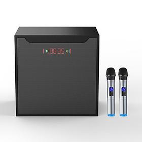 Bộ loa hát karaoke gồm 2 micro UHF dùng cho tivi smart và điện thoại Amoi L6P ( Hàng nhập khẩu ) có ổ cắm đa năng đi kèm