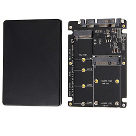 Adapter Chuyển Đổi SSD mSATA + M2 SATA (2 in 1) to SATA iii 2.5 inch (Màu ngẫu nhiên)