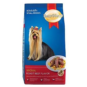 Đồ Ăn Cho Chó Nhỏ SmartHeart Hương Vị Thịt Bò Nướng (1.5kg)