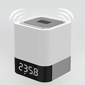 Loa Bluetooth không dây MuSky DY-28P đèn LED thông minh nháy theo nhạc, đổi màu đồng hồ báo thức âm Bass mạnh nghe nhạc công suất lớn hát karaoke vi tính phù hợp dã ngoại ngoài trời tương thích với điện thoại, máy tính Pin 4000mAh