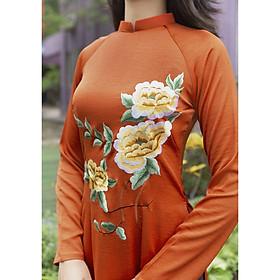 Áo dài nữ truyền thống chất liệu lụa Tây Thi cao cấp mềm mịn co giãn nhẹ - áo dài Nhã Anh - AGL04