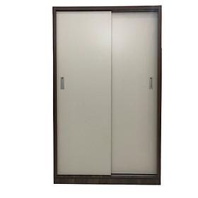 Tủ Áo Cửa Lùa 1m2 Gỗ MDF Melamine Cánh Trắng