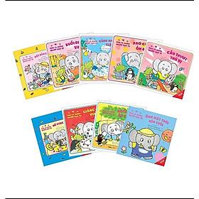 Combo Sách Ehon Nhật Bản kỹ năng sống kỹ năng vận động: Voi Pao Và Những Người Bạn - (Phần 3 Từ tập 21 đến 29)  - Tặng Sách Sổ Tay Giáo Dục Gia Đình Nhật Bản