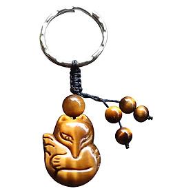 Móc Khoá Hồ Ly Phong Thuỷ Ngọc Quý Gemstones MK5