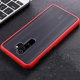 Ốp lưng cho Xiaomi Redmi Note 8 Pro trong nhám viền màu