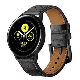 Dây da Italia Size 20mm cho Galaxy Watch Active 1, Galaxy Watch Active 2, Galaxy Watch 42, Huawei Watch 2, Ticwatch, Amazfit