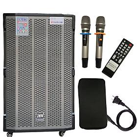 Loa Kéo Karaoke Bluetooth JMW J7000s Bass 4 Tấc 1 Loa Trung 2 Loa Treble Vân Gỗ Chính Hãng