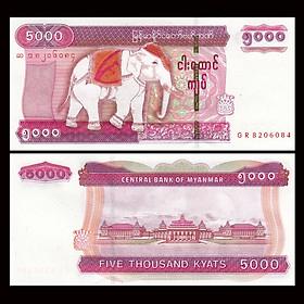 Tiền Đông Nam Á, 5000 Kyats Myanmar sưu tầm