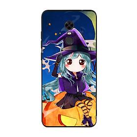 Hình đại diện sản phẩm Ốp lưng Halloween viền TPU cho điện thoại Xiaomi Redmi 5 Plus - Mẫu 04