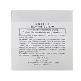 Kem dưỡng trắng da Secret Key Snow White Cream 50g-2