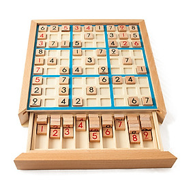 Bảng Xếp Hình Sudoku Bằng Gỗ Trò Có Ngăn Kéo Đồ Chơi Giáo Dục Trí Tuệ Nâng Cao Kiến Thức Toán Học